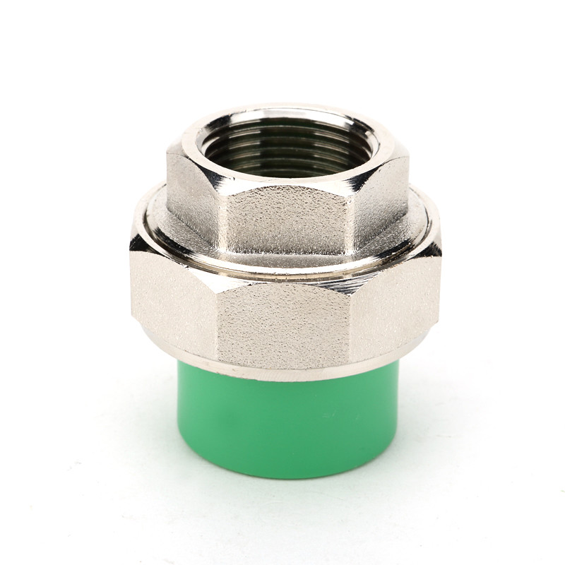 Green Ppr Pipe Fittings Female Threaded Union For Rainwater Utilization Systems